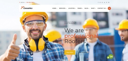roofer website design