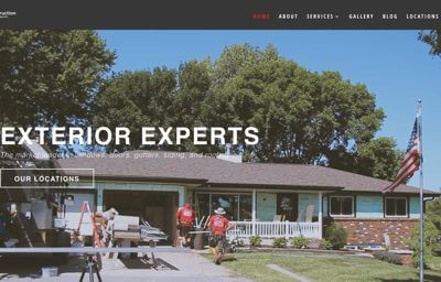 Exteriors Website Example