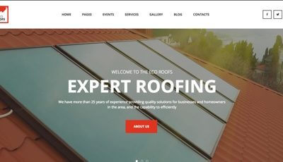 contractor website example
