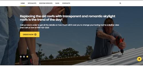 roofer website design
